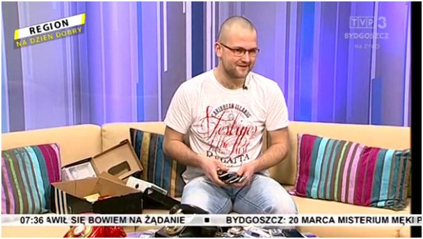 Hubert w programie Region na dzień dobry, tvp3 Bydgoszcz